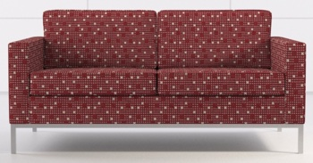 Carnegie Whirlybird Modern Retro Upholstery Fabric - In Use