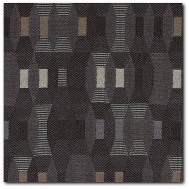 Maharam Tally Charcoal Upholstery Fabric - Close Up